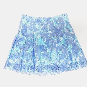 Lilly Pulitzer Girl's Pleated Blue & Purple Skirt